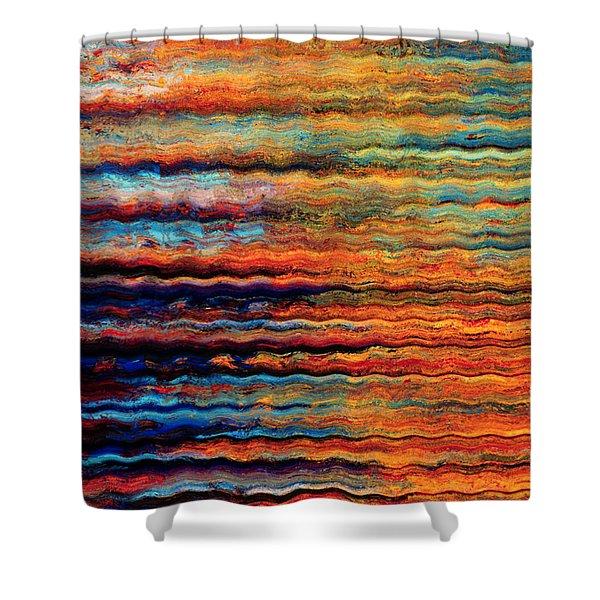 Brilliant Waves Shower Curtain
