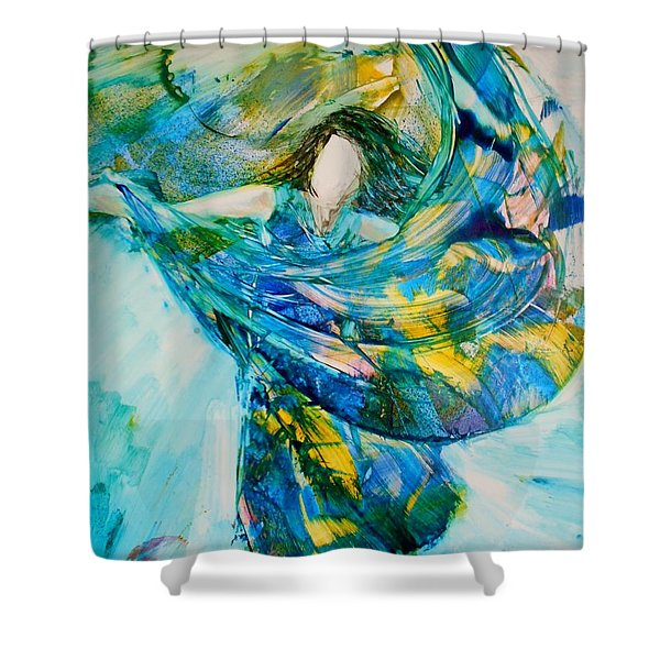 Shower Curtain featuring the painting Bringing Heaven To Earth by Deborah Nell