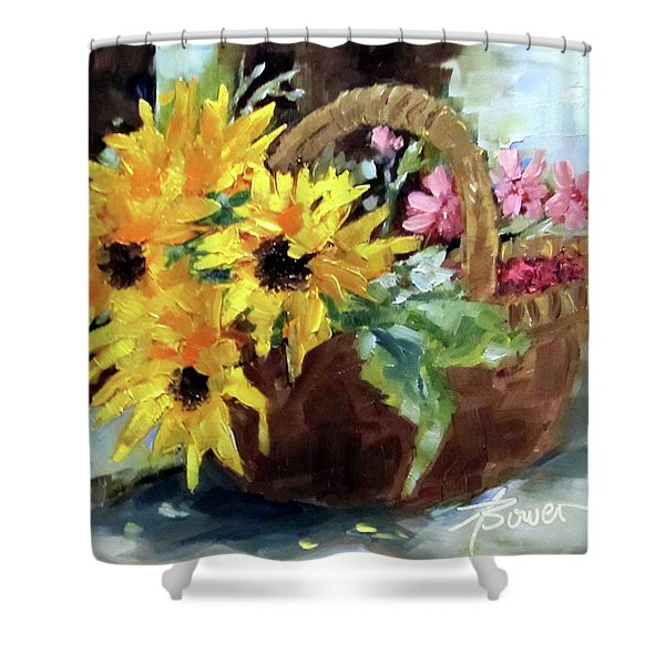 Bringing In The Sunshine  Shower Curtain