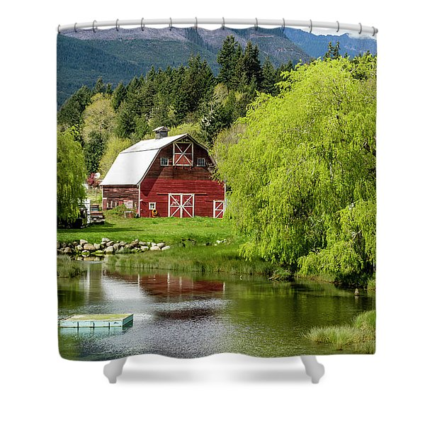 Brinnon Washington Barn Shower Curtain