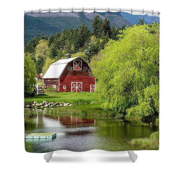 Brinnon Washington Barn Shower Curtain