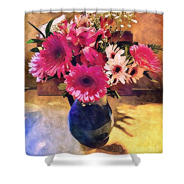 Brithday Wish Bouquet Shower Curtain