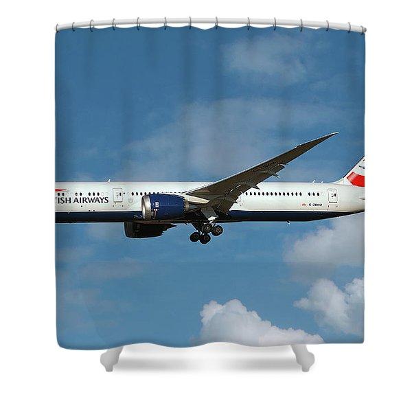 British Airways Boeing 787-9 Dreamliner Shower Curtain