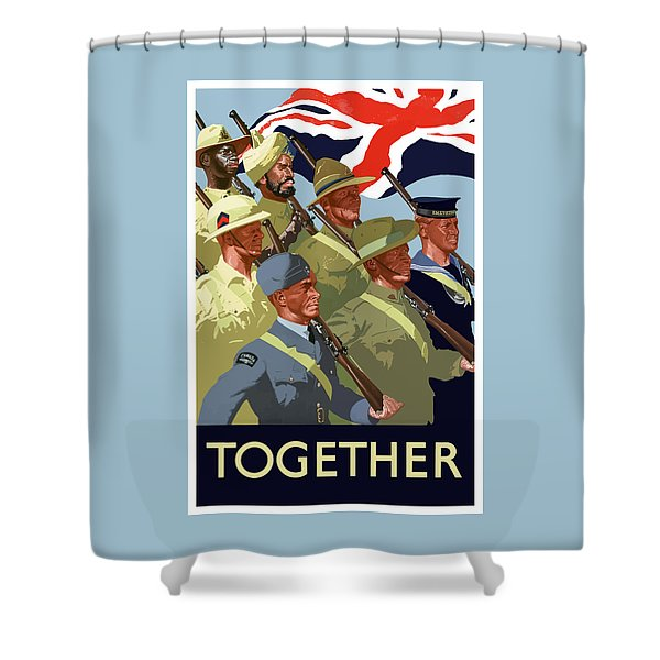 British Empire Soldiers Together Shower Curtain