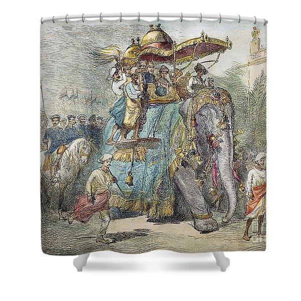 British In India, 1875 Shower Curtain
