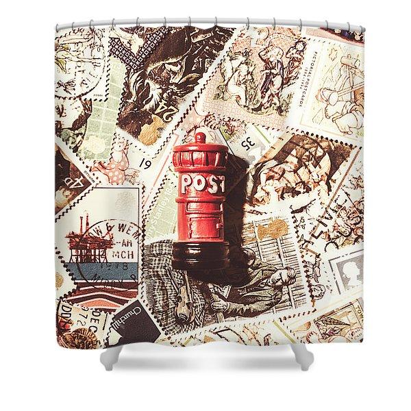 British Post Box Shower Curtain