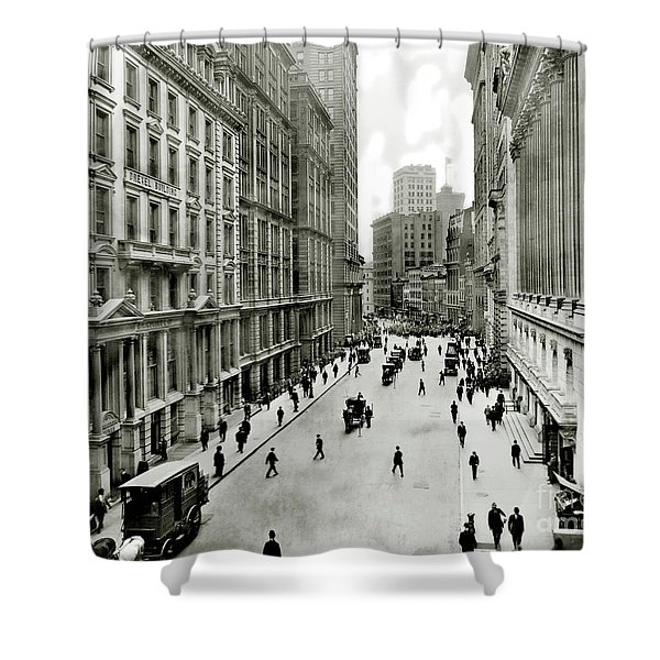 Broad St South Of Wall Street 1911 Shower Curtain