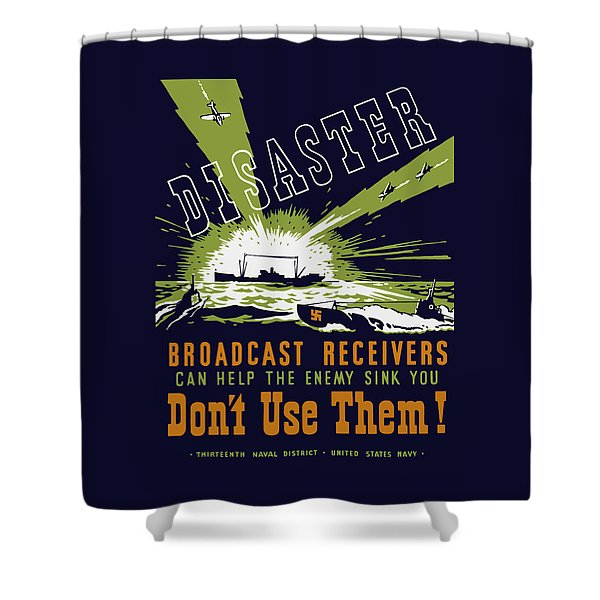 Broadcast Receivers Can Help The Enemy Sink You Shower Curtain