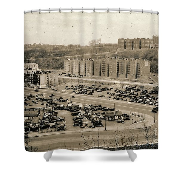 Broadway And Nagle Ave 1936 Shower Curtain