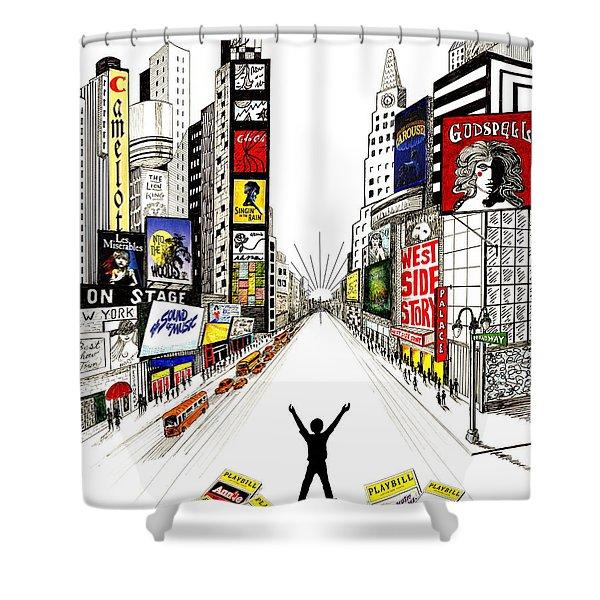 Broadway Dreamin' Shower Curtain