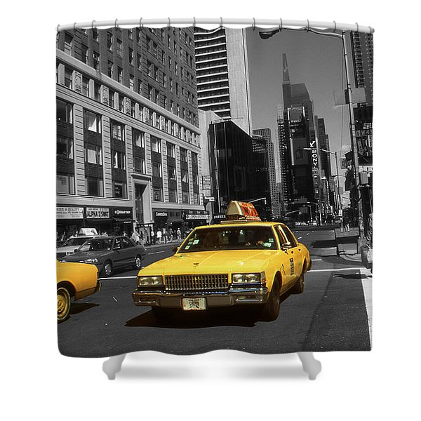 New York Yellow Taxi Cabs - Highlight Photo Shower Curtain