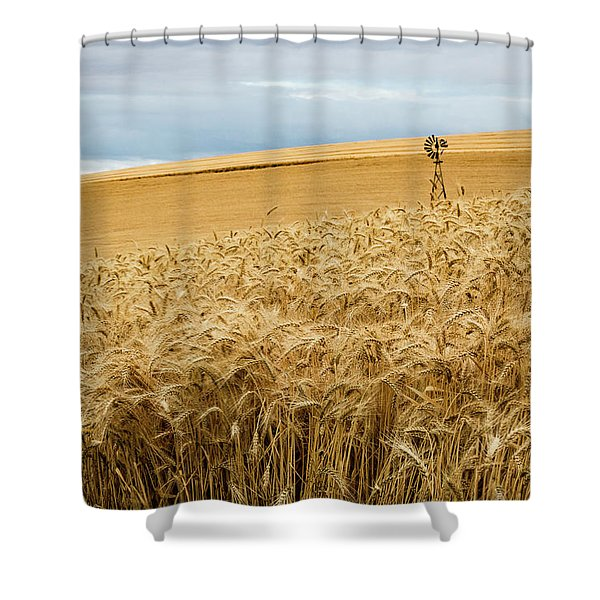 Broken Blades Shower Curtain