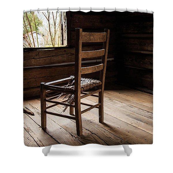 Broken Chair Shower Curtain
