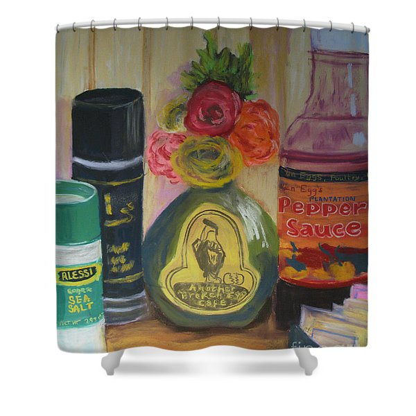 Broken Egg Tableart Shower Curtain