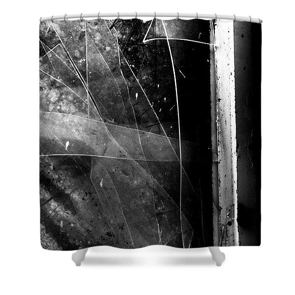Broken Glass Window Shower Curtain