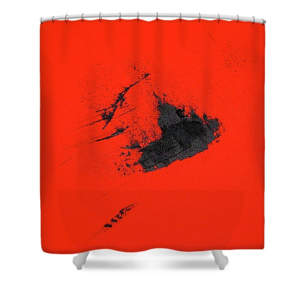 Shower Curtain featuring the painting Broken Heart by Michael Lucarelli