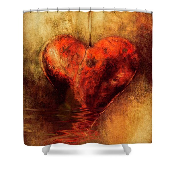 Broken Hearted Shower Curtain