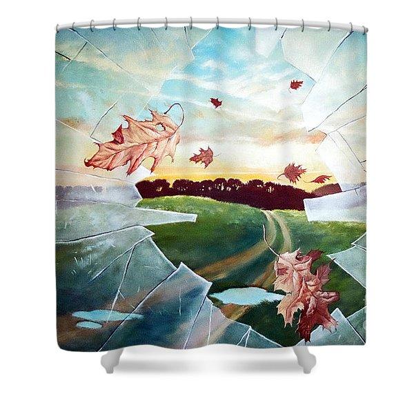 Broken Pane Shower Curtain