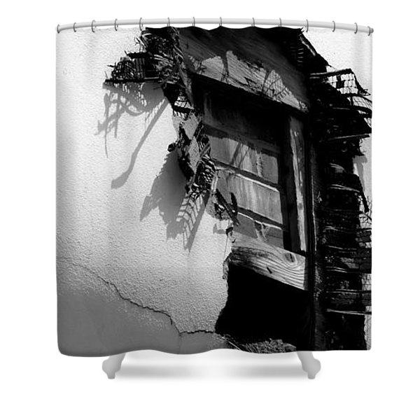 Broken Window Shower Curtain