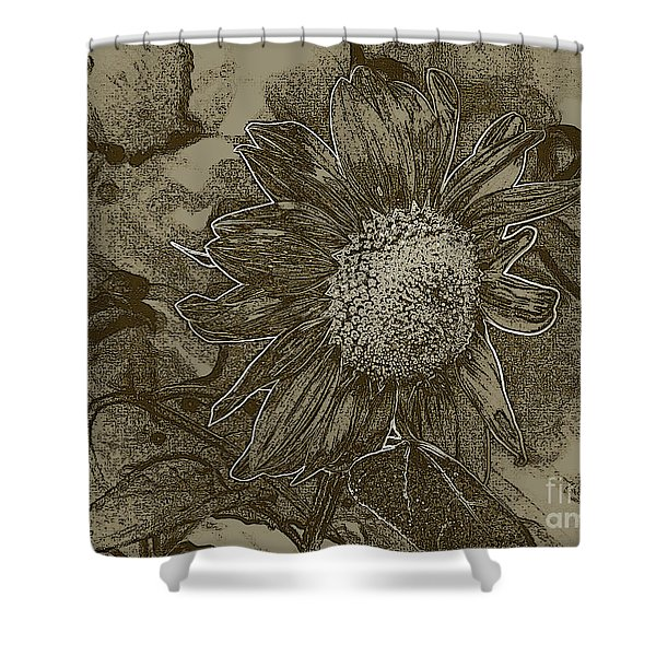 Bronzed Out Sunflower Shower Curtain