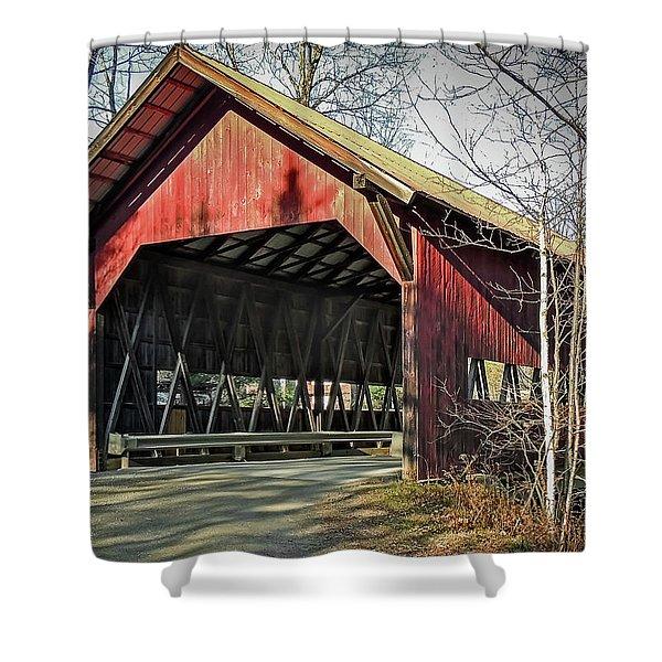 Brookdale Bridge Shower Curtain