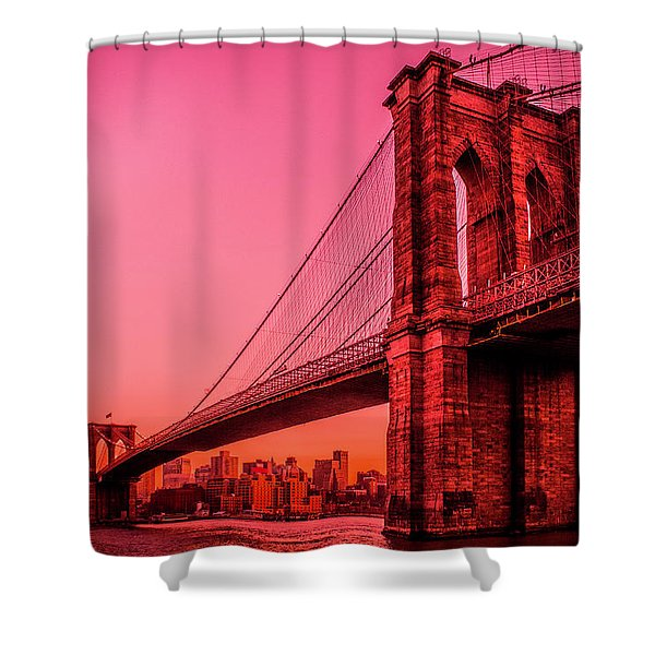 Brooklyn Blood Red Shower Curtain