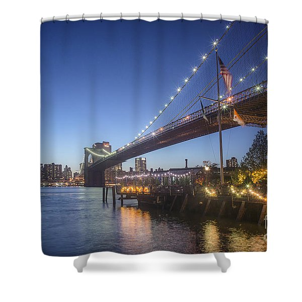 Shower Curtain featuring the photograph Brooklyn Brdige New York  by Juergen Held