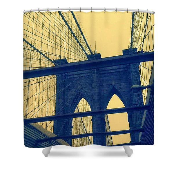 New York City's Famous Brooklyn Bridge Shower Curtain