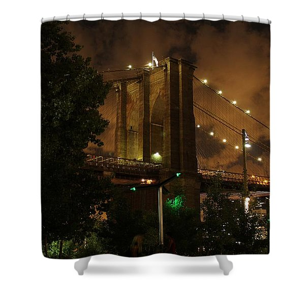 Brooklyn Bridge At Night Shower Curtain