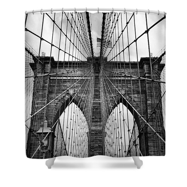 Brooklyn Bridge Mood Shower Curtain
