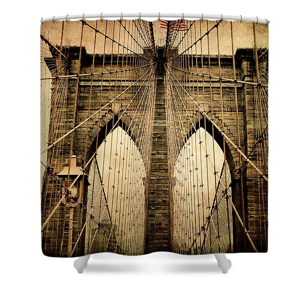 Brooklyn Bridge Nostalgia Shower Curtain