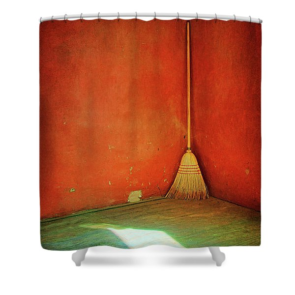 Broom Shower Curtain