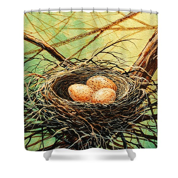 Brown Speckled Eggs Shower Curtain