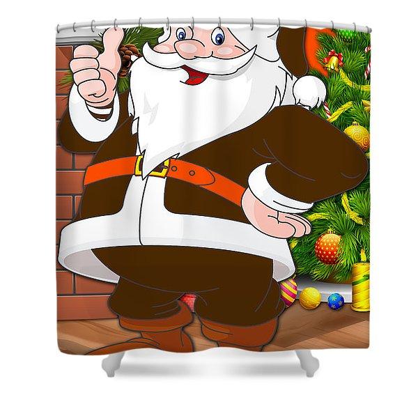 Browns Santa Claus Shower Curtain