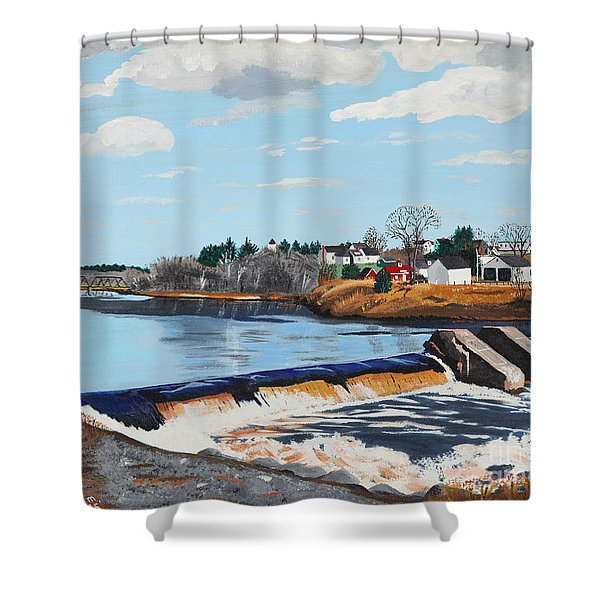 Brownville Village Dam Shower Curtain