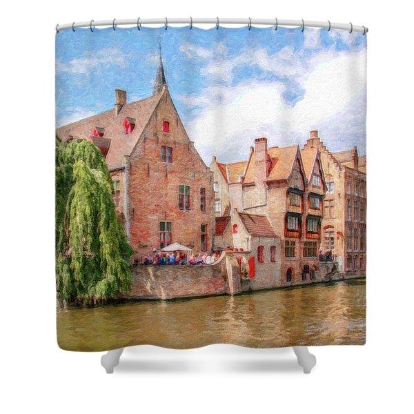 Bruges Canal Belgium Dwp-2611575 Shower Curtain