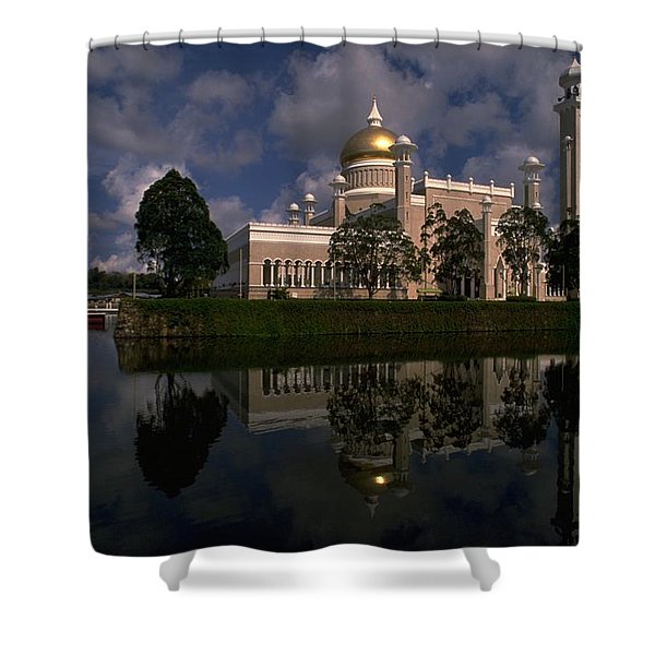 Brunei Mosque Shower Curtain
