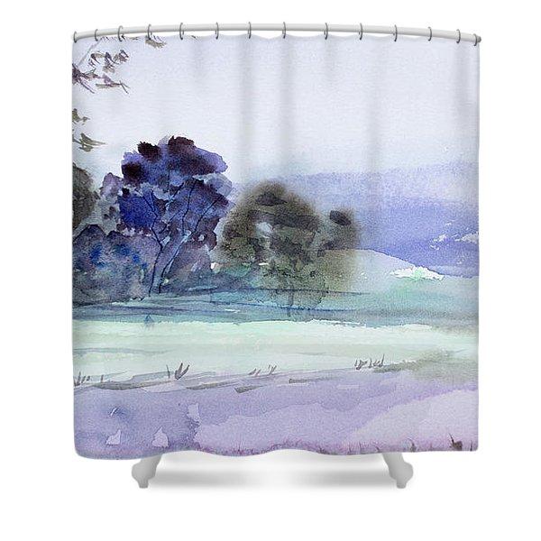 Bruny Island At Dusk Shower Curtain