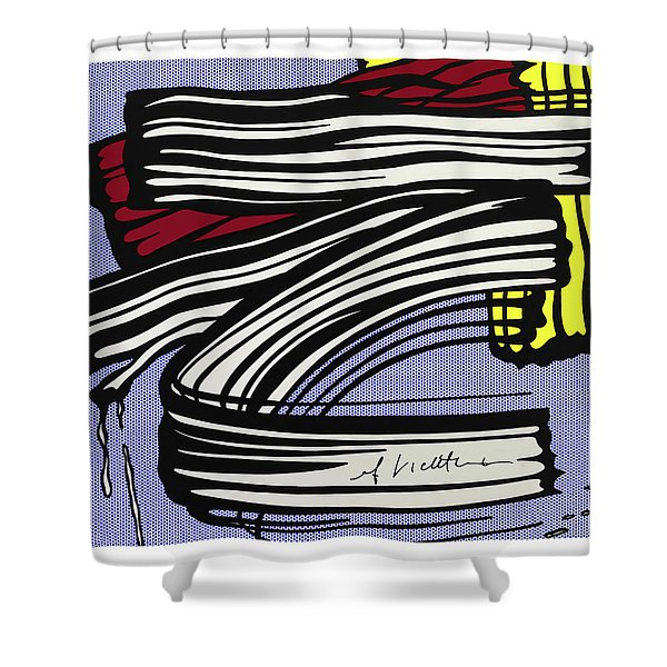 Brushstroke -1965 Shower Curtain