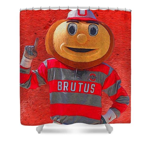 Brutus The Buckeye Shower Curtain