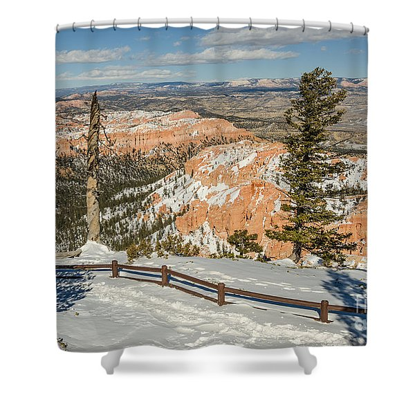 Bryce Amphitheater From Bryce Point Shower Curtain