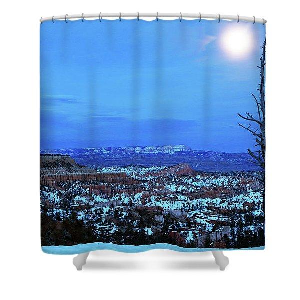 Bryce Blue Shower Curtain