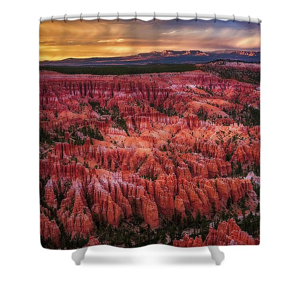 Bryce Canyon In The Glow Of Sunset Shower Curtain