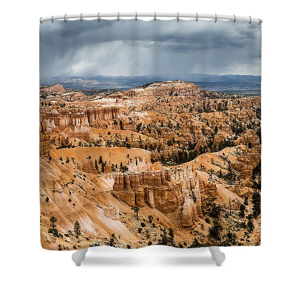 Bryce Canyon Storm Shower Curtain