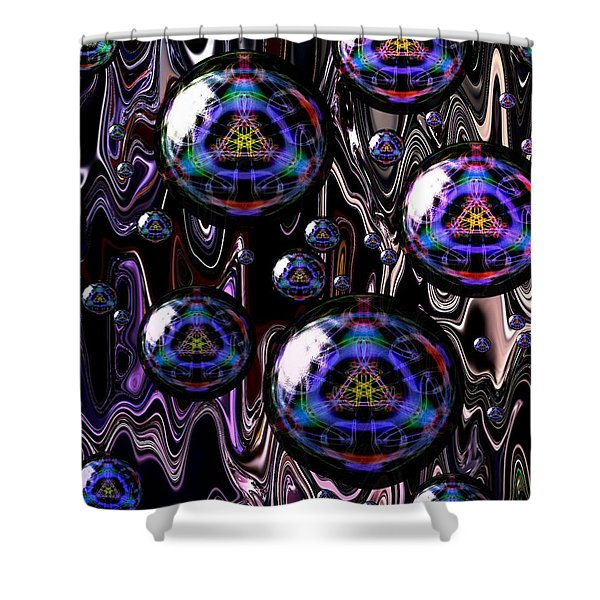 Bubble Abstract 1a Shower Curtain