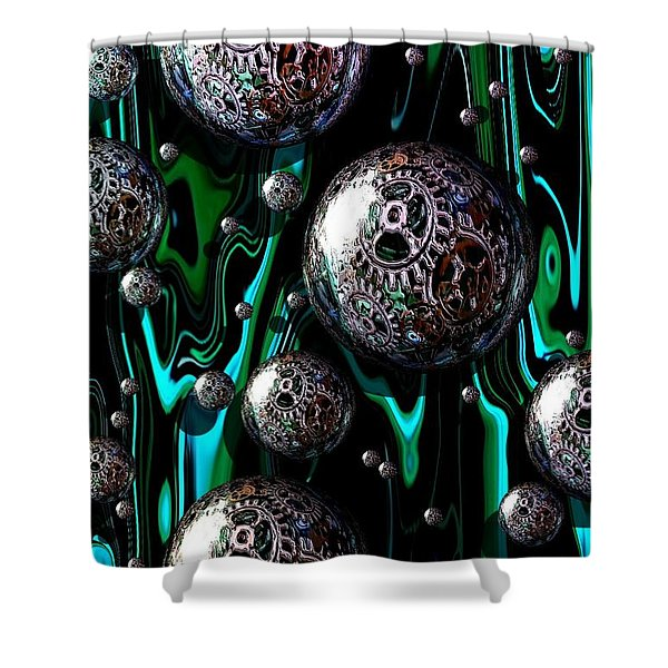 Bubble Abstract 1e Shower Curtain