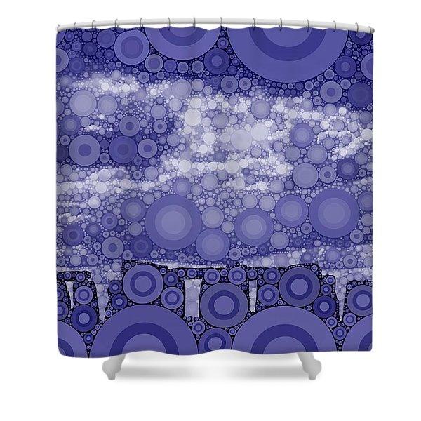 Bubble Art Stonehenge Shower Curtain