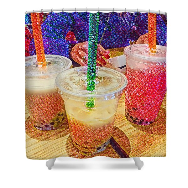 Bubble Tea For Three Shower Curtain