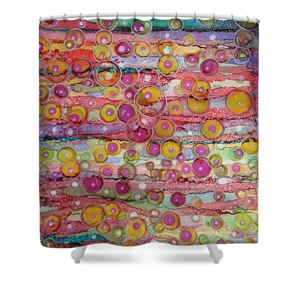 Bubble World Shower Curtain