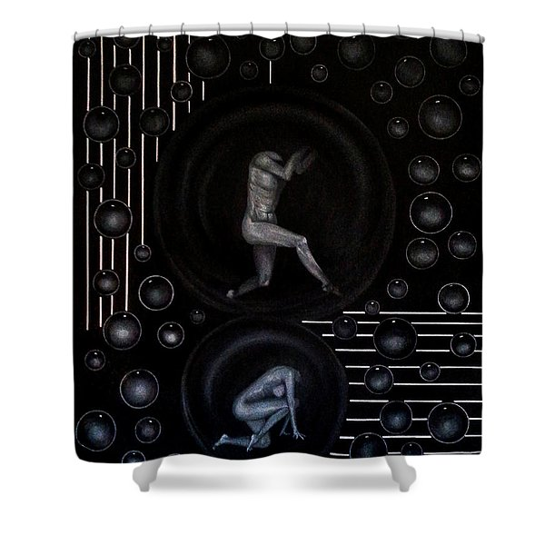 Bubbles Of Life Shower Curtain